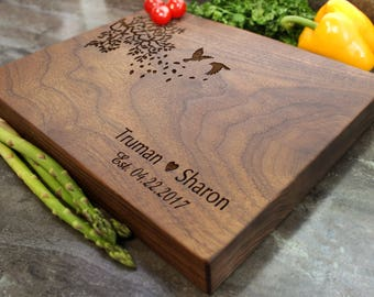 "Personalized Chopping Block 12x15x1.75"" - Engraved Butcher Block, Custom Chopping Block, Housewarming Gift, Wedding Gift #25"