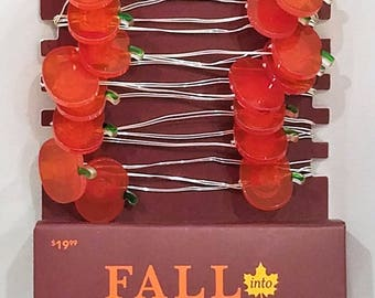 Fall Color String Lights : Lighted fall pumpkin Etsy