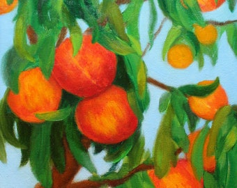 Peaches Oil Painting