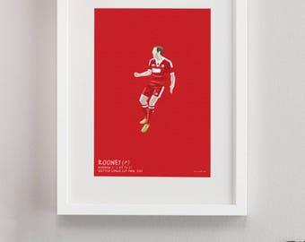 Wayne Rooney Everton Tattoo Art rooney | Etsy