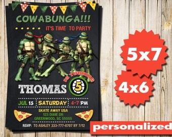 Ninja Turtles Invitation, Ninja Turtles Party, TMNT Invitation, Teenage Mutant Ninja Turtles, Invitations, TMNT Party, Printables