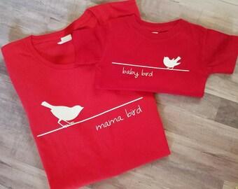 Mama Bird & Baby Bird Set