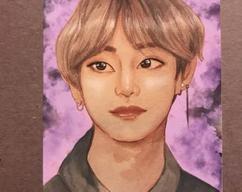 BTS V We purple you Taehyung art print
