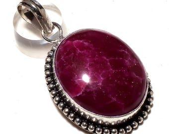 PINK QUARTZ GEMSTONE .925 silver pendant handmade jewelry