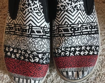 Twenty One Pilots inspired shoes