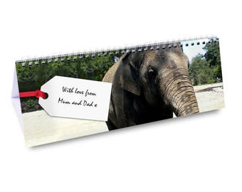 Personalised Zoo Desk Calendar Gifts Ideas For Boys Animals Girls Childrens Kids