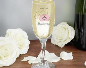 Personalised Wedding Bag Flute Gifts Ideas Presents For Thank  You Favours Girls Her Bridesmaid Mother Of The Bride Groom
