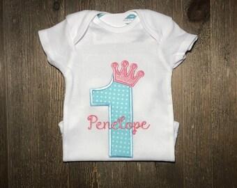 Personalized First birthday Princess / 1st Birthday / 2nd Birthday / 3rd Birthday /Princess / Embroidered / Second Birthday / Third Birthday