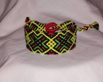 Knotted bracelet Braided bracelet String bracelet Bracelet bresilien Friendship bracelet Wrist band Handwoven bracelet Unique gift Boho