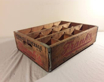 1978 Franks Quality Beverage Soda Crate