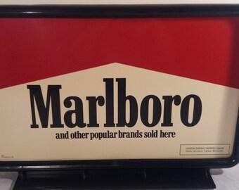 1990 Marlboro Table Top Advertising Sign