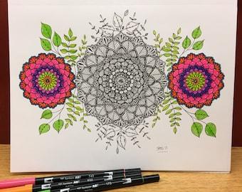 Three Flower Mandala
