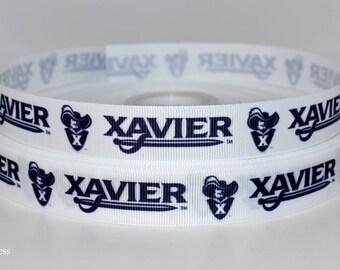 "Xavier University 7/8"" Grosgrain Ribbon C67 By the Yard"