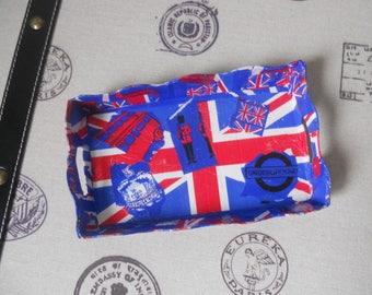 Cardboard Union Jack themed dish