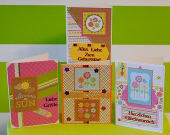 "Handmade Greeting Cards - Spring - handcrafted unique pieces for lovers of summer and sunshine - Doodlebug Design""Hello Sunshine"""