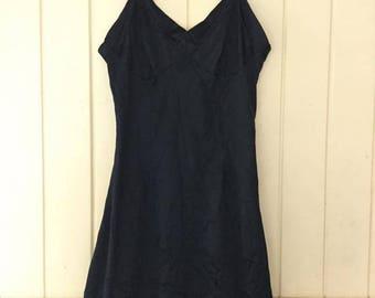 vintage slip dress with detail