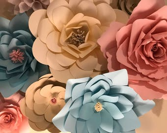 Giant paper flowers for archway or backdrop or to make any special occasion extra special.