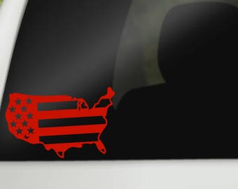 American Flag Vinyl Decal, USA, Decals, Car Windows, Laptops, Tablets, Notebooks, Tumblers