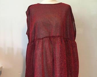 Oversized glittery smock dress