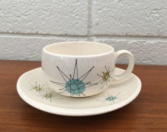 Franciscan Starburst Tea Cup and Saucer Set