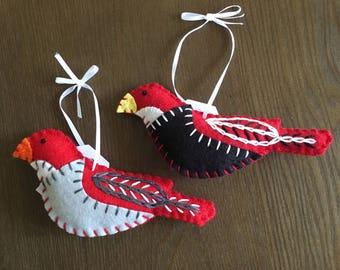 Two Felt Birds