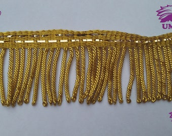 3cm Gold Bullion wire fringe,Gold bullion fringe,Metal Bullion fringe,Decoration,Vestment,church,Trim,Tassel,3cm fringe plus 1 cm ribbon,NEW