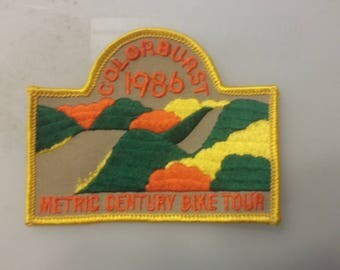 Colorburst 1986 Metric Century Bike Tour Vintage Embroidered Sew On Patch