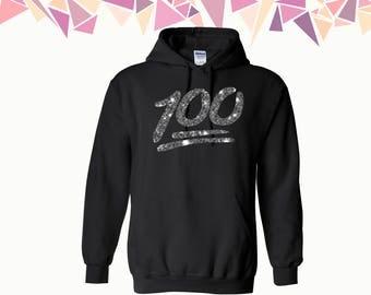 100 Hooded Sweatshirt 100 Diamond Hoodie 100 Diamond Sweater Diamond Hoodie Sweatshirt Sweater Hooded Sweatshirt
