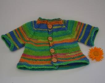 Cardigan from socks yarn - Waldorf doll clothes Steiner doll clothes Waldorf doll cardigan Steiner doll cardigan knit jacket