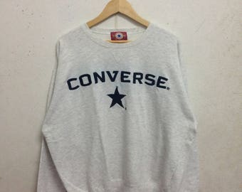 Vintage 90's Converse All Star Sweatshirts Size Double LL