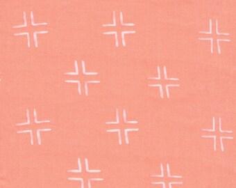 Fabric-Quilting Cotton-Trellis in Coral - Cloud9 Fabrics
