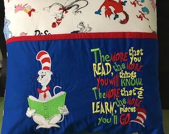 Dr Seuss Reading Pillow