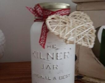 Vintage Heart Shabby Chic Mason Jar