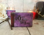 Fairytale Once Upon A Time Luxury Wedding Ring Box / Fairytale Wedding/ Book Inspired Ring Box