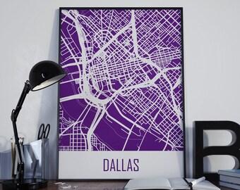 Dallas Map Dallas Travel Map Dallas Street Map Dallas City Map Dallas Map Poster Dallas Map Photo Dallas Map Print Dallas Map Art Unframed
