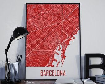 Barcelona Map Barcelona Travel Map Barcelona Street Map Barcelona City Map Barcelona Map Poster Barcelona Map Photo Barcelona Map Print