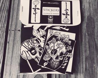 Stomach Hands Sticker Pack 2