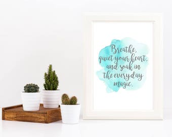 Breathe Blue Watercolour| Joy | Digital Print