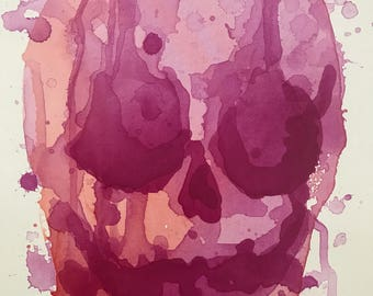 Abstract Sunset Skull