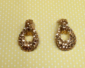 Bellini By Formart Sparkle Hoops with Rhinestones