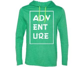 Adventure Travel Men's T-Shirt Hoodie | Hiking Hoodie | Adventure Hoodie | Gift for men | Vintage | Valentines day gift | Camping Hoodie