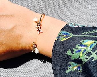 Pearl Bracelet, Gold Bracelet, Dainty Bracelet, Minimalist Bracelet, Chain Bracelet, Bridesmaid Gift