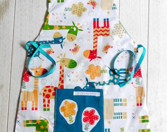 boy giraffe pattern... ideal for a future top chef apron