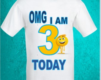 Emoji birthday shirt,Boys emoji birthday shirt,Gene emoji shirt,Boys birthday shirt,Emoji movie birthday shirt,custom birthday shirt.