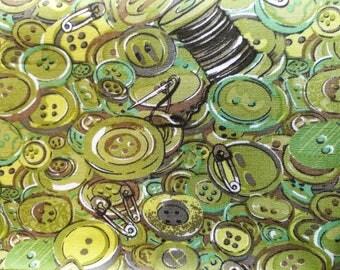 Buttons fat quarter
