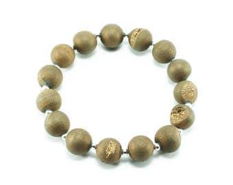 Matte Gold Druzy Beaded Bracelet