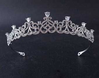 Crystal bridal tiara