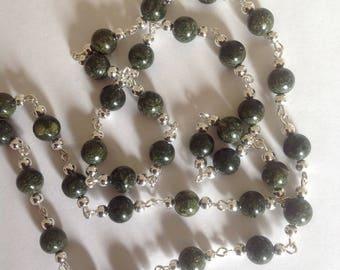 African green jasper necklace Green necklace semi precious beaded necklace beaded necklace  semi precious necklace gemstone necklace jasper