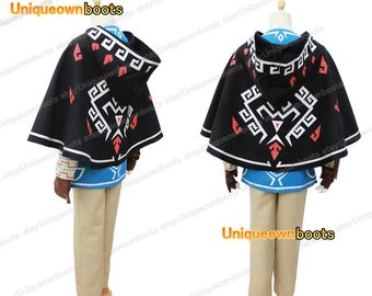 Men's Legend of Zelda Breath Wild Link Cosplay costume only Cape
