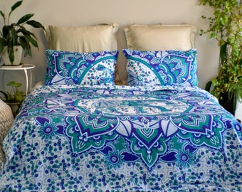 queen size elephant print mandala doona duvet bed spread bed cover tapestry
